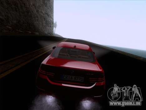 BMW F32 4 series Coupe 2014 pour GTA San Andreas vue de côté
