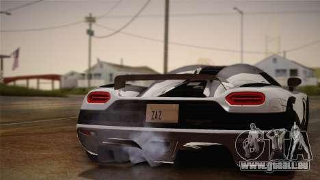 Koenigsegg Agera pour GTA San Andreas vue de droite