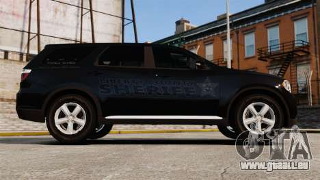 Dodge Durango 2013 Sheriff [ELS] pour GTA 4 est une gauche