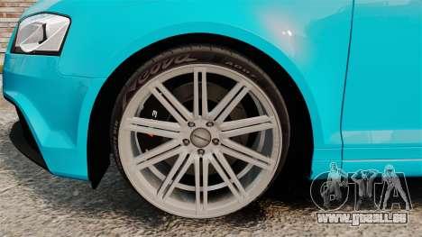 Audi RS3 Sportback [Typ 8PA] 2011 für GTA 4 Rückansicht
