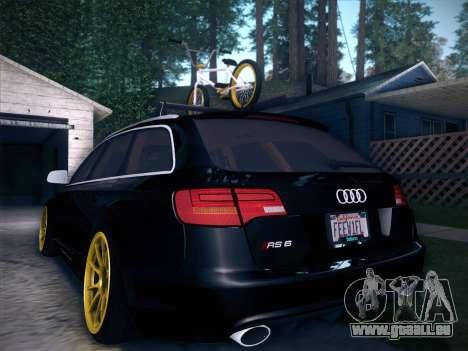 Audi Avant RS6 LowStance pour GTA San Andreas salon