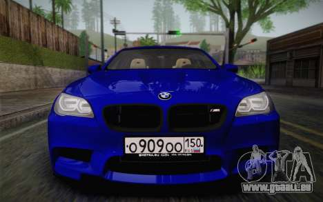 BMW M5 F10 v2 pour GTA San Andreas vue arrière