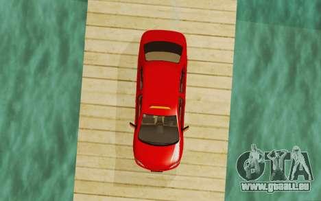 Toyota Vios Taxi Costa Rica für GTA San Andreas Rückansicht