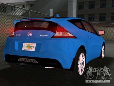Honda CR-Z 2010 pour GTA Vice City vue de dessous
