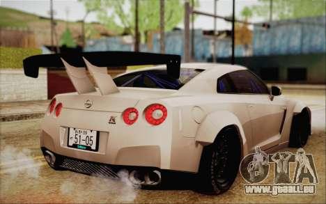 Nissan GT-R Liberty Walk pour GTA San Andreas laissé vue
