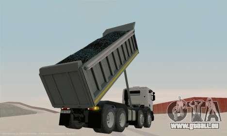 Scania P420 pour GTA San Andreas vue intérieure