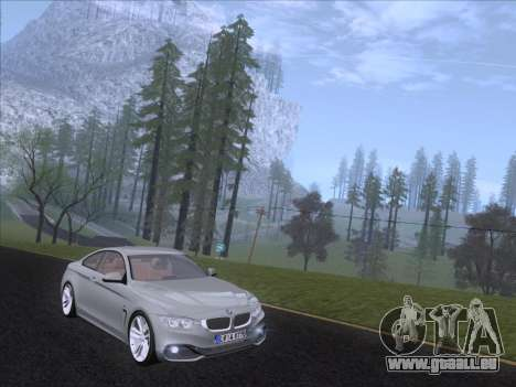 BMW F32 4 series Coupe 2014 für GTA San Andreas linke Ansicht