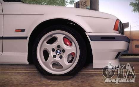 BMW E34 Alpina pour GTA San Andreas sur la vue arrière gauche