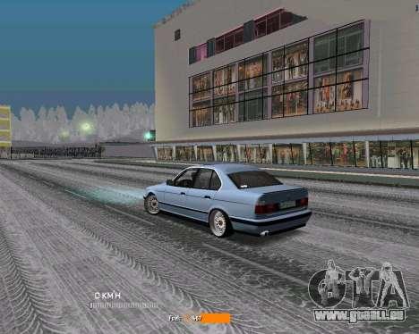 BMW E34 JDM pour GTA San Andreas sur la vue arrière gauche