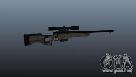 Fusil de sniper AI Arctic Warfare Police pour GTA 4 troisième écran