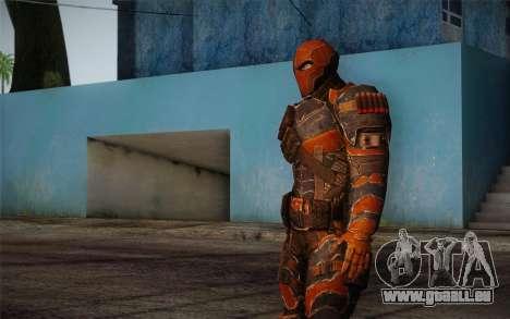 Deathstroke from Batman: Arkham Origins pour GTA San Andreas troisième écran