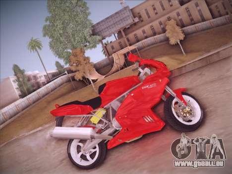 Ducati Supersport 1000 DS pour GTA San Andreas sur la vue arrière gauche