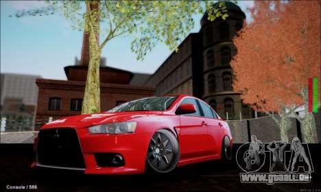 Mitsubishi Lancer Evolution X Stance Work für GTA San Andreas