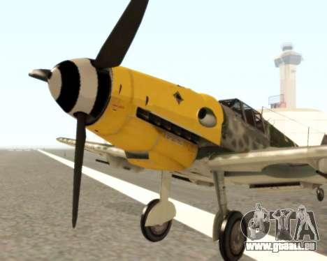 Bf-109 G6 v1.0 pour GTA San Andreas laissé vue