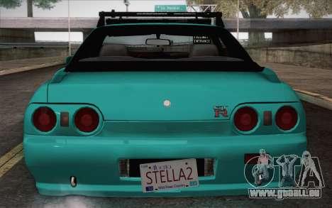 Nissan Skyline R32 Stella für GTA San Andreas zurück linke Ansicht