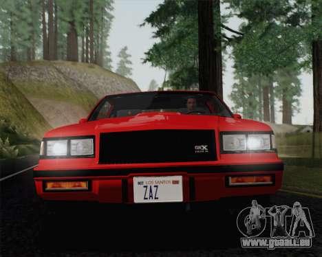 Buick GNX 1987 für GTA San Andreas Seitenansicht