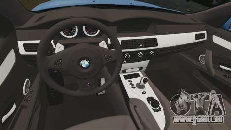BMW M5 2009 pour GTA 4 est une vue de l'intérieur
