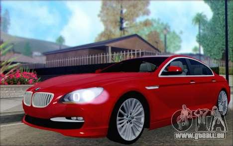 BMW 6 Gran Coupe v1.0 pour GTA San Andreas vue arrière