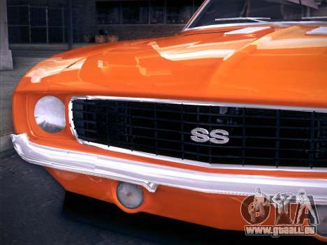 Chevrolet Camaro SS 1969 pour GTA San Andreas vue de droite