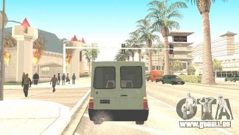 Fiat Fiorino Fire 07 pour GTA San Andreas laissé vue