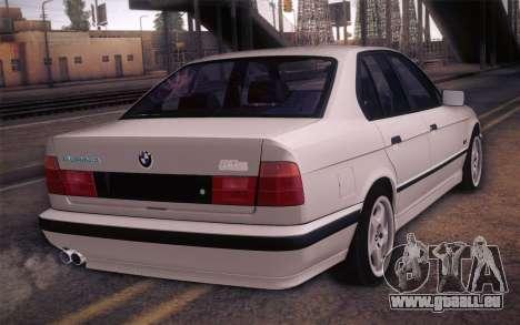 BMW E34 Alpina pour GTA San Andreas laissé vue