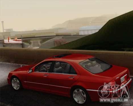 Mercedes-Benz S600 Biturbo 2003 pour GTA San Andreas vue intérieure