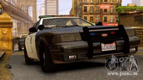 GTA V Police Cruiser pour GTA 4 Vue arrière de la gauche