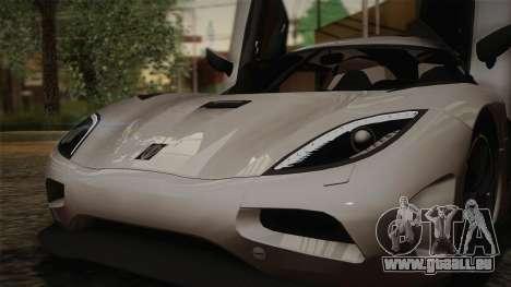 Koenigsegg Agera pour GTA San Andreas salon