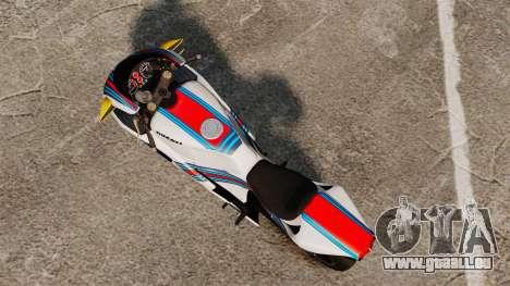Ducati 848 Martini pour GTA 4 Vue arrière de la gauche