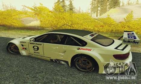 BMW M3 GT2 E92 ALMS pour GTA San Andreas laissé vue