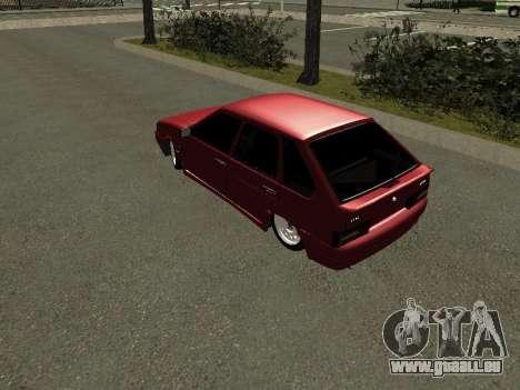 ВАЗ 2114 BPAN pour GTA San Andreas sur la vue arrière gauche
