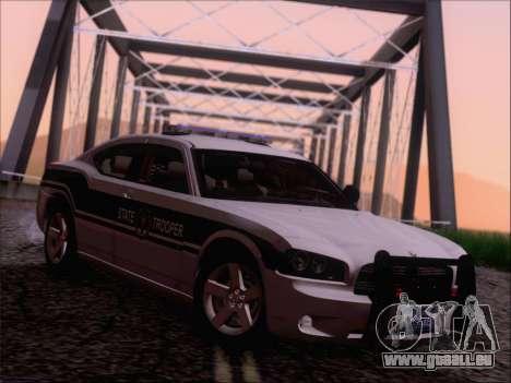 Dodge Charger San Andreas State Trooper für GTA San Andreas zurück linke Ansicht