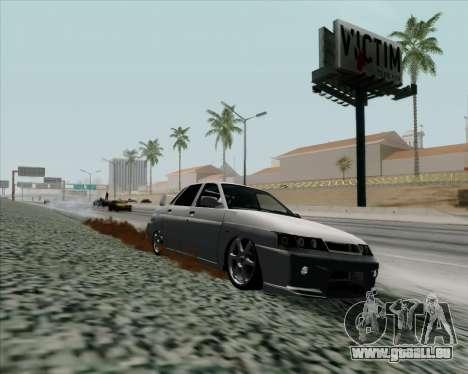 VAZ 2110 v2 pour GTA San Andreas sur la vue arrière gauche