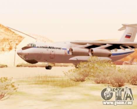 Il-76td v2.0 pour GTA San Andreas sur la vue arrière gauche