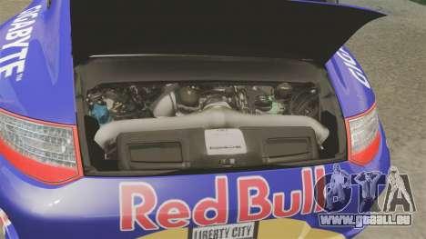 Porsche 911 Sport Classic 2010 Red Bull pour GTA 4 est une vue de l'intérieur