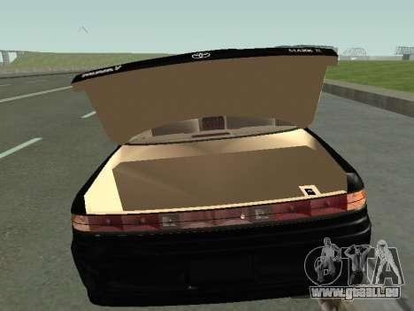 Toyota Mark II für GTA San Andreas rechten Ansicht