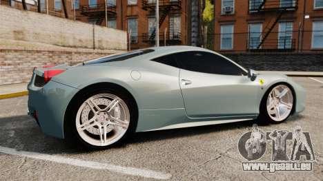 Ferrari 458 Italia 2009 für GTA 4 linke Ansicht