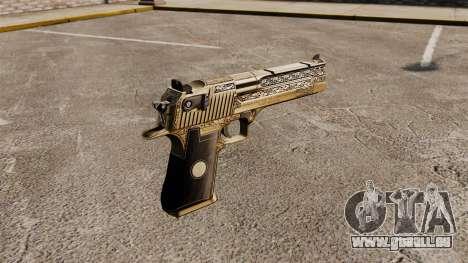 Luxus-Desert Eagle Pistole für GTA 4 Sekunden Bildschirm