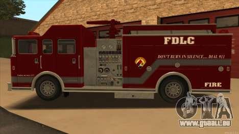 Firetruck HD from GTA 3 für GTA San Andreas linke Ansicht