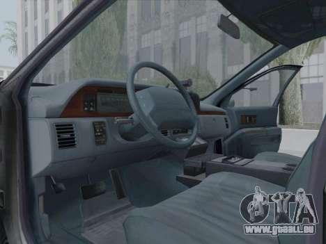 Chevrolet Caprice LAPD 1991 [V2] pour GTA San Andreas vue intérieure