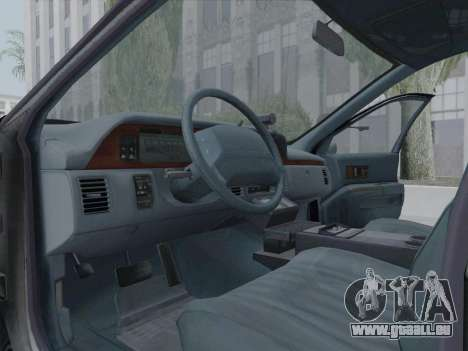 Chevrolet Caprice LAPD 1991 [V2] für GTA San Andreas Innenansicht