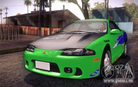 Mitsubishi Eclipse Fast and Furious für GTA San Andreas Seitenansicht
