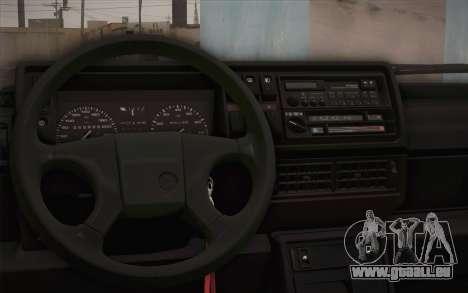 Volkswagen Golf Mk2 GTI pour GTA San Andreas vue arrière