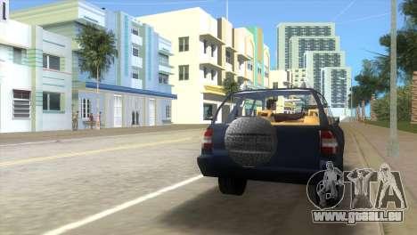 Opel Frontera pour GTA Vice City sur la vue arrière gauche