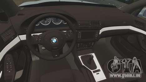 BMW M5 E39 2003 pour GTA 4 est une vue de l'intérieur