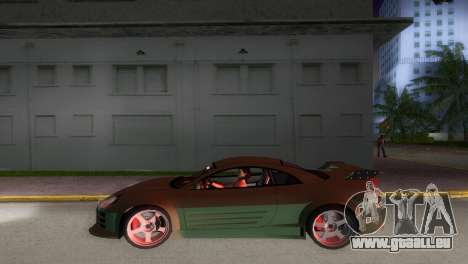 Mitsubishi Eclipse GT 2001 pour GTA Vice City vue arrière