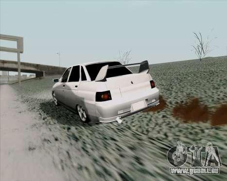 VAZ 2110 v2 pour GTA San Andreas vue de droite
