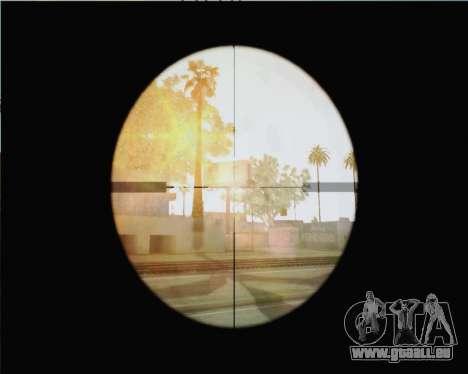 Fusil de sniper dans Call of Duty MW2 pour GTA San Andreas troisième écran
