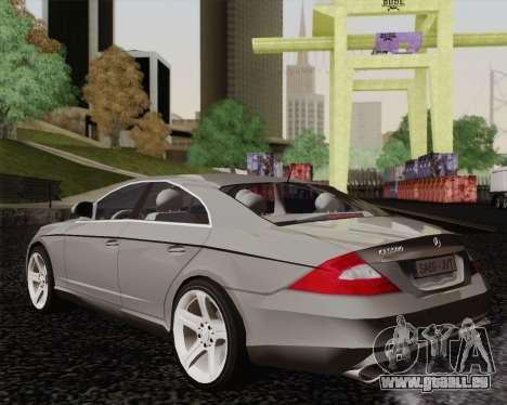 Mercedes-Benz CLS500 pour GTA San Andreas laissé vue