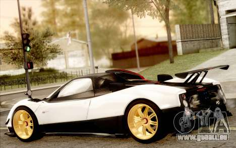 Pagani Zonda Cinque für GTA San Andreas obere Ansicht